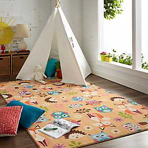 Animal Toss Area Rug, 5x8