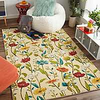 Spiced Beauties Floral Area Rug, 5x8