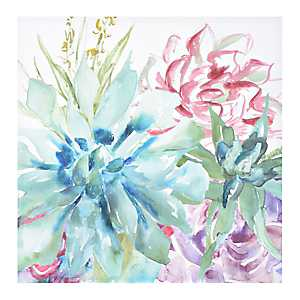 Watercolor Succulent Garden II Canvas Art Print