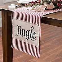 Ticking Stripe Jingle Table Runner