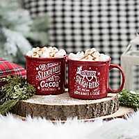 Sleigh Ride Hot Cocoa Mugs, Set of 2