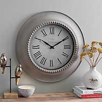 Ginny Stonewash Beaded Wall Clock