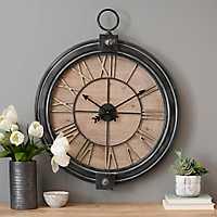 Metal and Wood Hunter Wall Clock