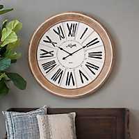 Charlotte Wood and Metal Wall Clock