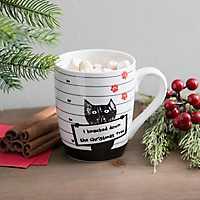 Cat Jail Mug Shot Christmas Mug