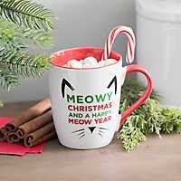 Meowy Christmas Cat Mug
