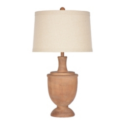 Savy Distressed Brown Urn Table Lamp