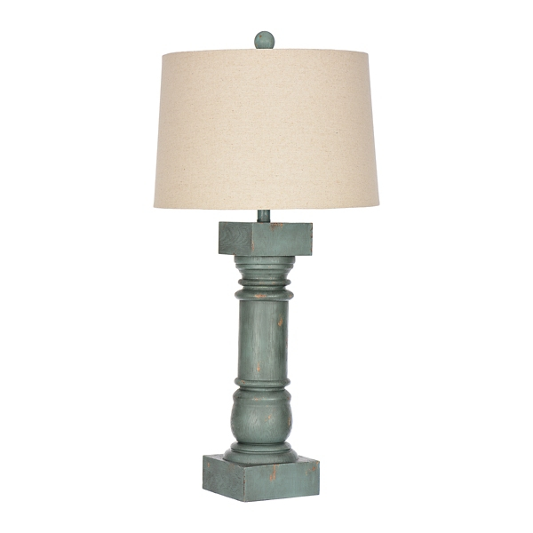 Savy Distressed Blue Table Lamp