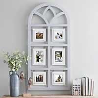 Gray 6-Opening Hanging Arch Collage Frame