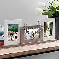 Family Tin Cut-Out 3-Opening Table Collage Frame