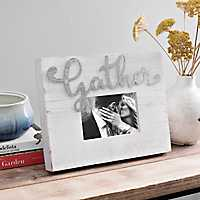 Galvanized Cut-Out Gather Wood Picture Frame, 5x7