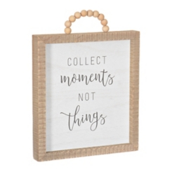 Collect Moments Not Things Beaded Handle Plaque