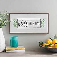 Bless This Day Wall Plaque