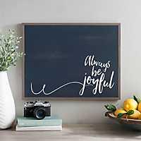 Navy Always Be Joyful Wall Plaque