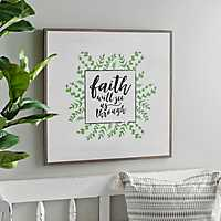 Faith Will See Us Through Wall Plaque