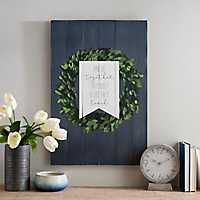 Built A Life They Loved Wood Plaque with Wreath