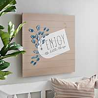Enjoy The Little Things Eucalyptus Tag Plaque