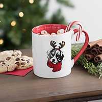Happy Pawlidays Beagle Mug