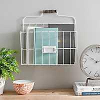 Metal Wire Wall Pocket Basket