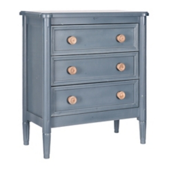 Blue Chest with Natural Knobs