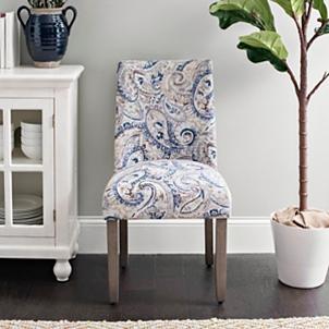 Blue Paisley Wingback Dining Chair Kirklands