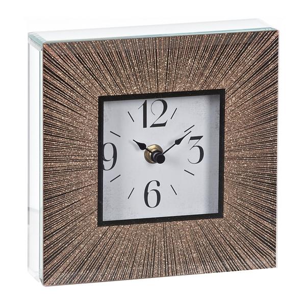 Superieur Gold Burst Sparkle Tabletop Clock