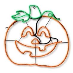 LED Lighted Halloween Pumpkin Plaque