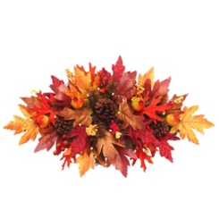 Pre-Lit Harvest Maple Centerpiece