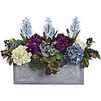 Hyacinth and Hydrangea Window Box Arrangement