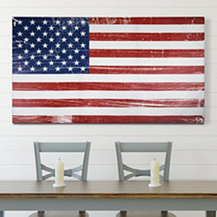 Distressed American Flag Canvas Art Print