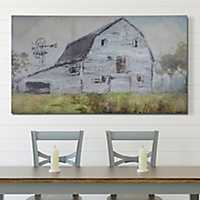 Gray Farmhouse Barn Canvas Art Print