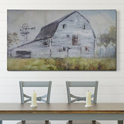 Gray Farmhouse Barn Canvas Art Print