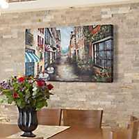 European Shops Canvas Art Print