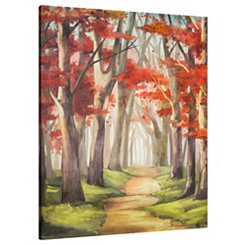 Red Forest Canvas Art Print