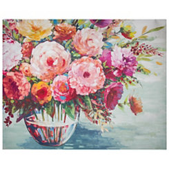Pink Flower Bouquet Canvas Art Print