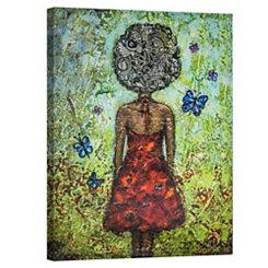 Butterfly Girl Canvas Art Print