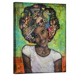 Happy Portrait Canvas Art Print