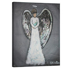 Gray Angel Canvas Art Print