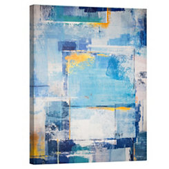 Blue Abstract Square Canvas Art Print