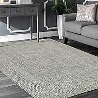 Crisscross Gray Geometric Area Rug, 5x8