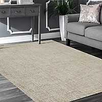 Taupe and Teal Geometric Area Rug, 5x8