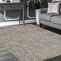 Charcoal and Gold Geometric Area Rug, 5x8