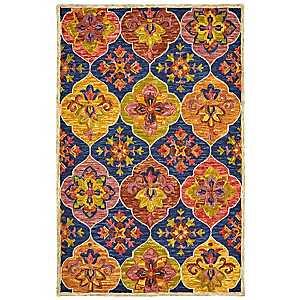 Multicolor Lavish Floral Area Rug, 5x8