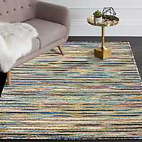 Multicolor Topanga Striped Area Rug, 5x8
