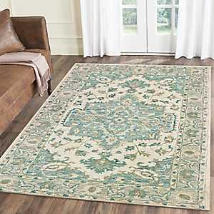 Turquoise Modern Traditions Area Rug, 5x8