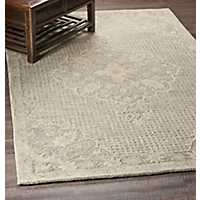 Yellow Modern Traditions Area Rug, 5x8