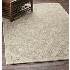 Beige Modern Traditions Area Rug, 5x8