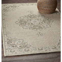 Cream Modern Traditions Area Rug, 5x8