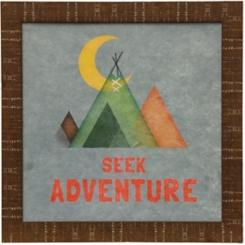Seek Adventure Teepee Framed Art Print