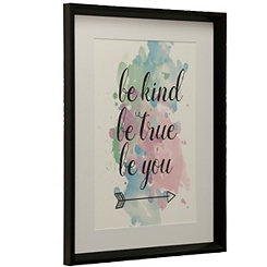 Framed art framed wall art kirklands be kind watercolor framed art print gumiabroncs